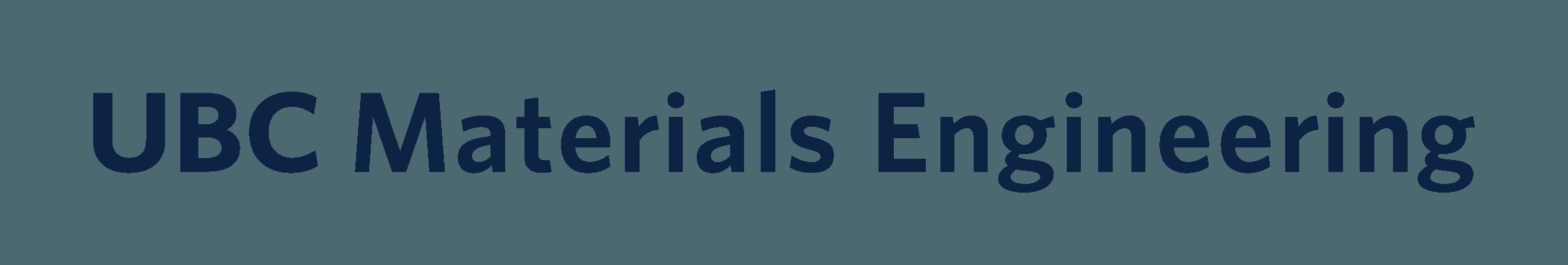 UBC Materials Engineering Logo