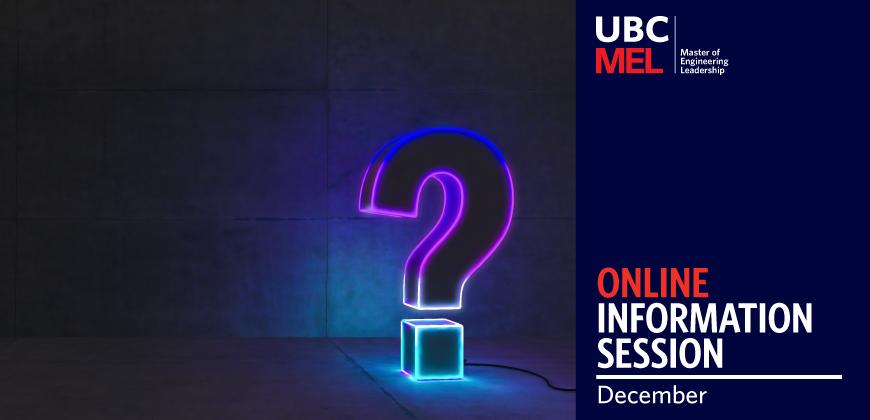 UBC MEL Info Session December